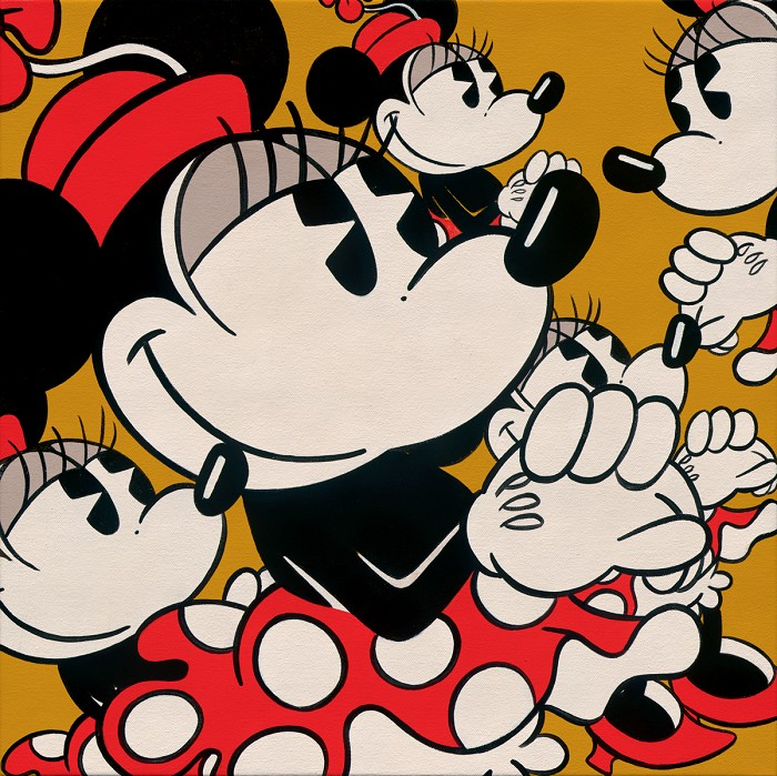 Trevor CarltonMany Minnies Minnie MouseGiclee On Canvas