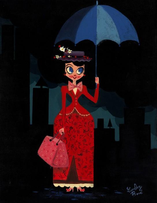 Lorelay BoveMarys UmbrellaGiclee On Canvas