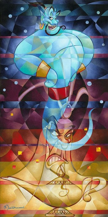 Tom Matousek Master of the Lamp From Aladdin Hand-Embellished Giclee on Canvas