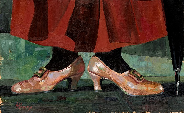 Lisa Keene Mary's Chimchimeny Shoes From Mary Poppins Original Oil on Canvas