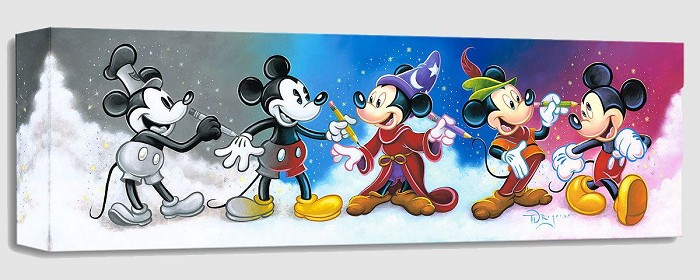 Tim Rogerson Mickey's Creative Journey Gallery Wrapped Giclee On Canvas