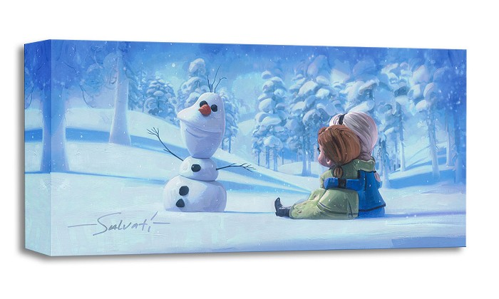 Jim Salvati Memories of Magic From The Movie Frozen Gallery Wrapped Giclee On Canvas