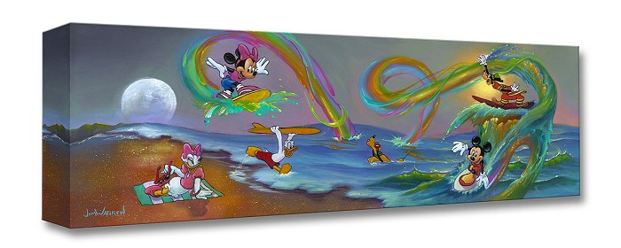 Jim Warren Mickey's Crazy Wave Gallery Wrapped Giclee On Canvas