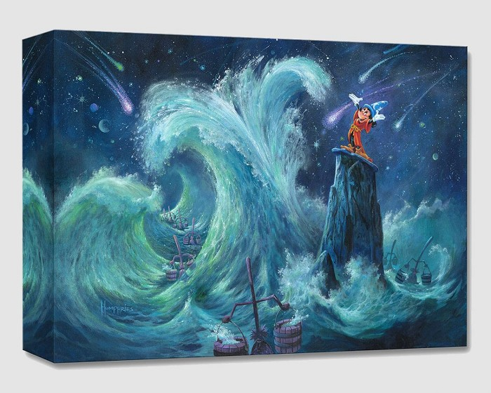 Michael Humphries Mickey Creates the Magic From The Movie Fantasia Gallery Wrapped Giclee On Canvas