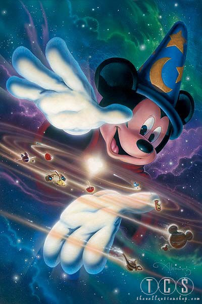 John Alvin Mickey's Universe Mickey Mouse Giclee On Canvas