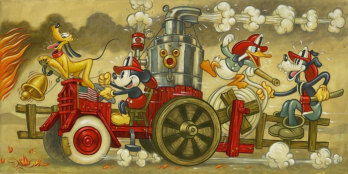 Tim RogersonMickey's Fire BrigadeGiclee On Canvas
