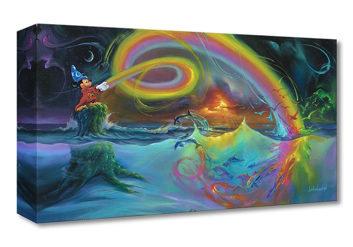Jim Warren Mickey's Magical Colors Gallery Wrapped Giclee On Canvas