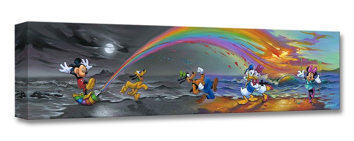 Jim Warren Mickey Makes Our Day Gallery Wrapped Giclee On Canvas