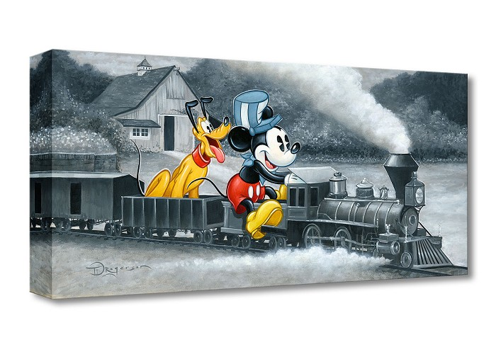 Tim Rogerson Mickey's Train From Mickey Mouse Gallery Wrapped Giclee On Canvas