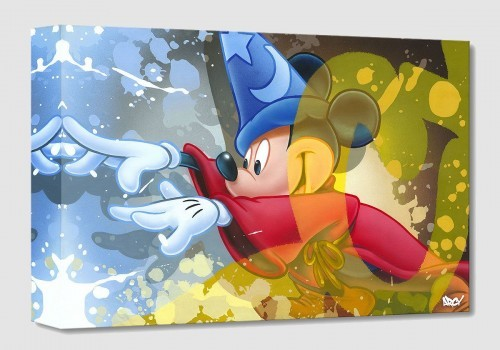 Arcy Mickey Sorcerer From Fantasia Giclee On Canvas