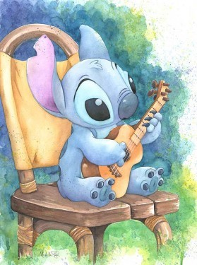 Michelle St Laurent Ukulele Solo - From Disney Lilo and Stitch Giclee On Canvas