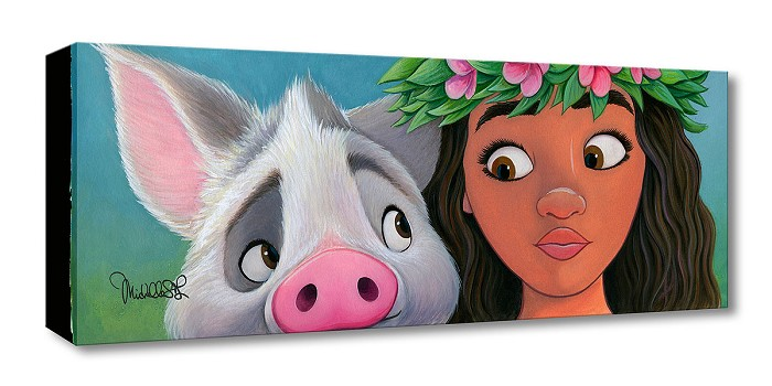 Michelle St Laurent Moana's Sidekick From Moana Gallery Wrapped Giclee On Canvas