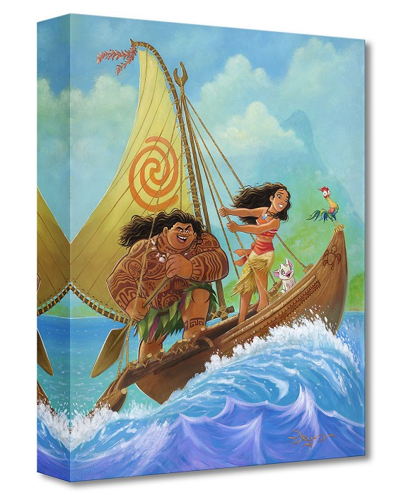 Tim Rogerson Moana Knows the Way Gallery Wrapped Giclee On Canvas