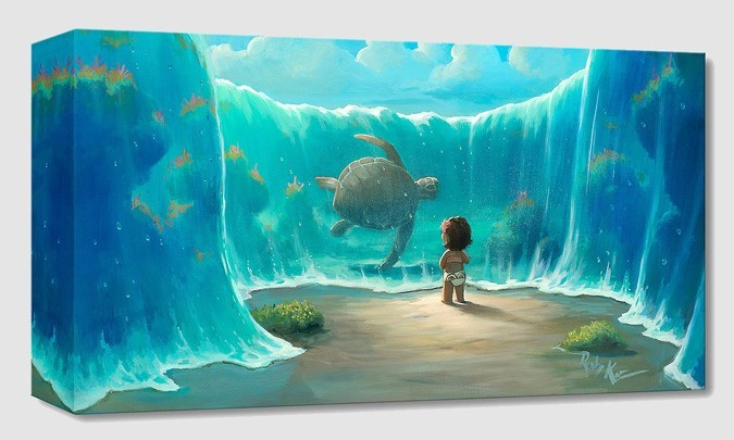 Rob Kaz  Moana's New Friend From Moana Gallery Wrapped Giclee On Canvas