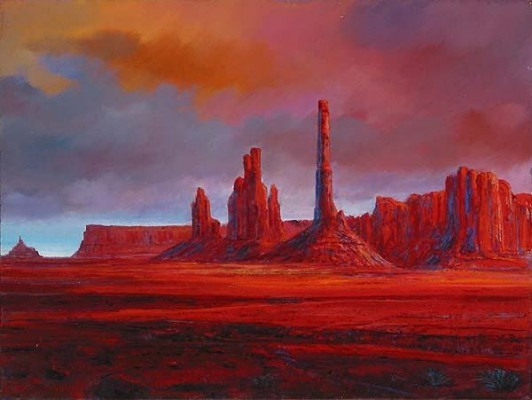 Harrison Ellenshaw Monument Valley Giclee On Canvas