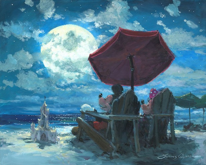 James Coleman Under the Moonlight Giclee On Canvas