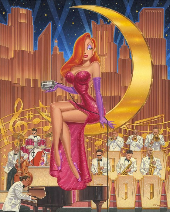 Manuel Hernandez A Moon and a Star From Who Framed Roger Rabbit Hand-Embellished Giclee on Canvas