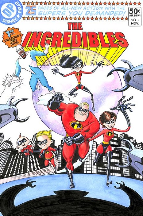 Bill Morrison The Incredibles no1 Petite Edition Giclee on Canvas