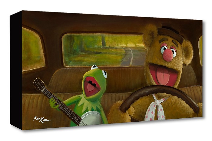 Rob Kaz  Movin Right Along The Muppets Gallery Wrapped Giclee On Canvas