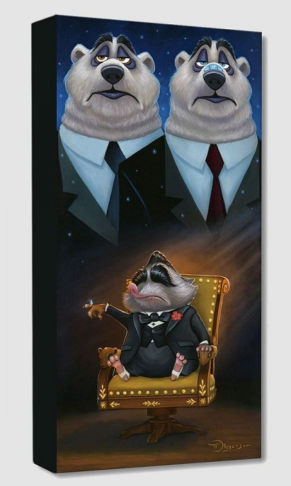 Tim Rogerson Mr. Big from Zootopia Gallery Wrapped Giclee On Canvas