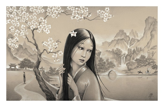 Edson Campos Mulan Premiere Edition From Mulan Giclee On Paper
