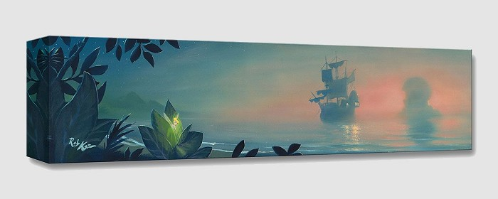 Rob Kaz  Neverland Lagoon From Peter Pan Gallery Wrapped Giclee On Canvas