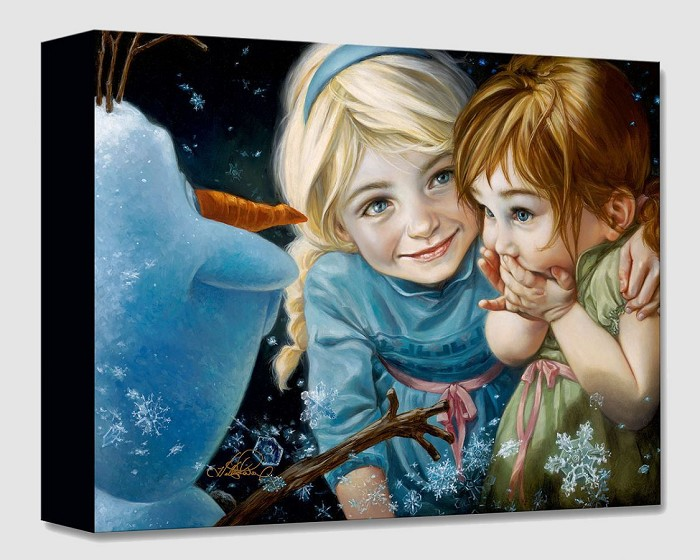 Heather Theurer Never Let It Go From The Movie Frozen Gallery Wrapped Giclee On Canvas