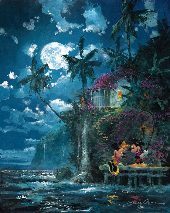 James Coleman Night Fishin' in Paradise Hand-Embellished Giclee on Canvas