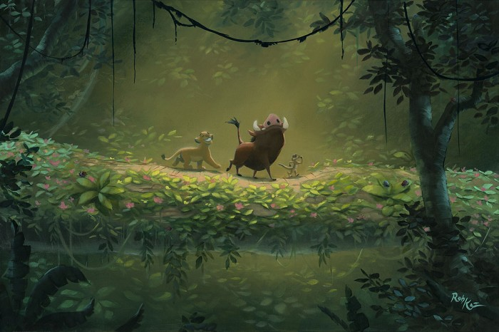 Rob Kaz No Worries - From Disney The Lion King Hand-Embellished Giclee on Canvas