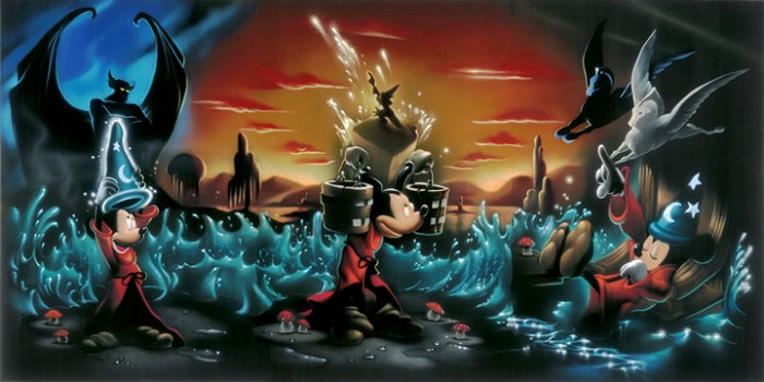 Noah The Sorcerers Dream - From Disney Fantasia Giclee On Canvas