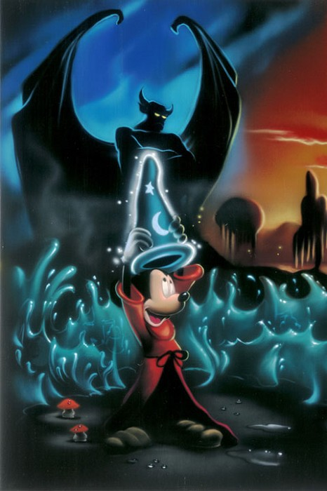 Noah The Sorcerers Dream Panel 1 Deluxe - From Disney Fantasia Giclee On Canvas