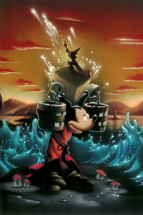Noah The Sorcerers Dream Panel 2 Deluxe - From Disney Fantasia Giclee On Canvas
