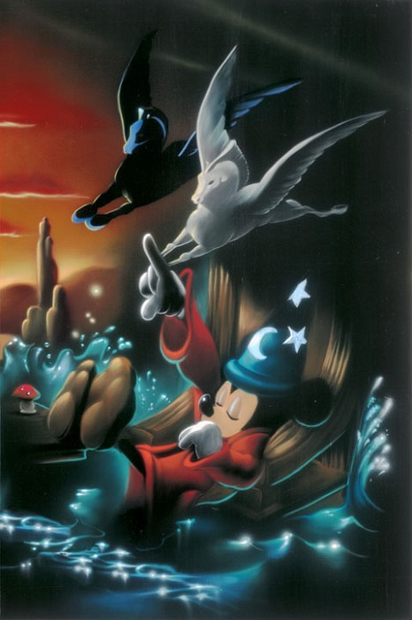 Noah The Sorcerers Dream Panel 3 - From Disney Fantasia Giclee On Canvas