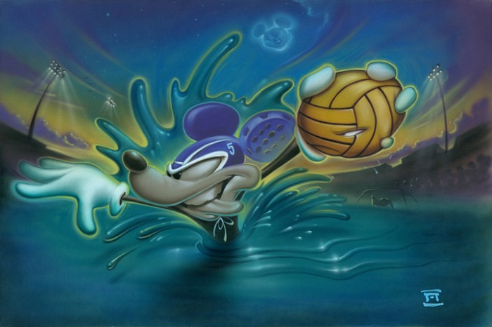 Noah Water Mouse Giclee On Canvas
