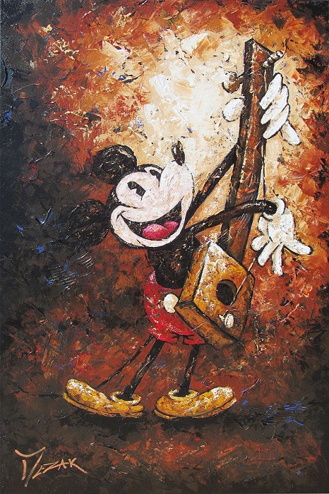 Trevor Mezak Musical Mickey Original Acrylic on Canvas