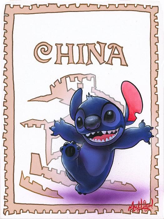 James C MulliganStitch in ChinaOriginal Acrylic on Canvas