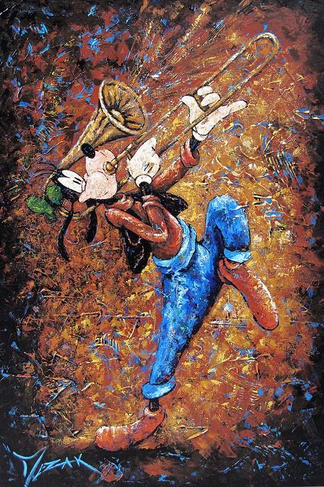 Trevor MezakToot Your Own HornOriginal Acrylic on Canvas