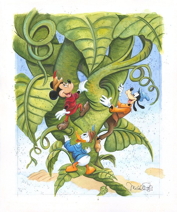 Michelle St Laurent Up the Beanstalk Original Watercolor on Paper