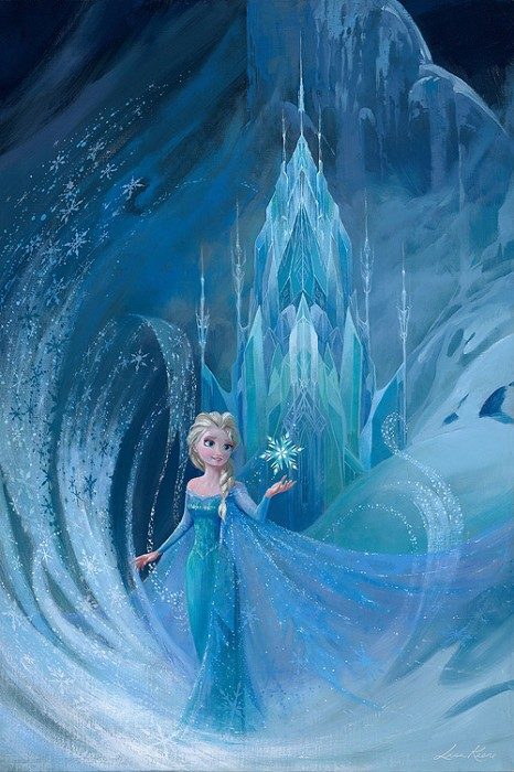 Lisa Keene Well Now They Know From The Movie Frozen Hand-Embellished Giclee on Canvas