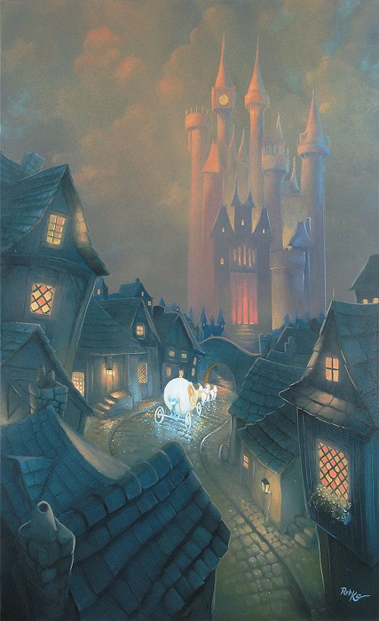 Rob Kaz  The Palace Awaits - From Disney Cinderella Hand-Embellished Giclee on Canvas