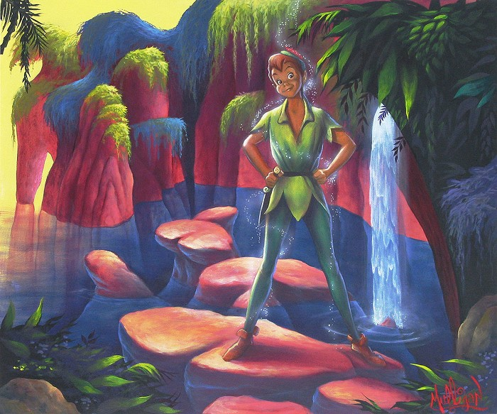 James C Mulligan Pan's Kingdom From The Movie Peter Pan Original Acylic on Board