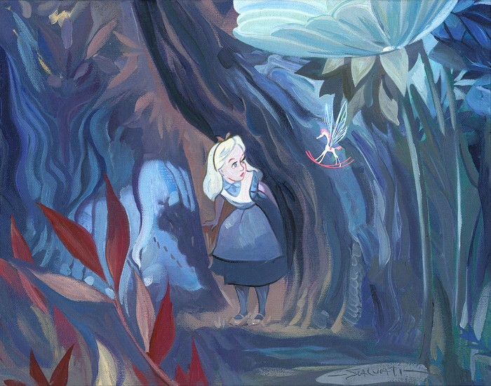 Jim SalvatiPeculiar Things - From Alice in WonderlandHand-Embellished Giclee on Canvas