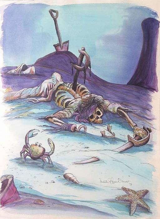 Michelle St LaurentPIRATESOriginal Watercolor on Paper
