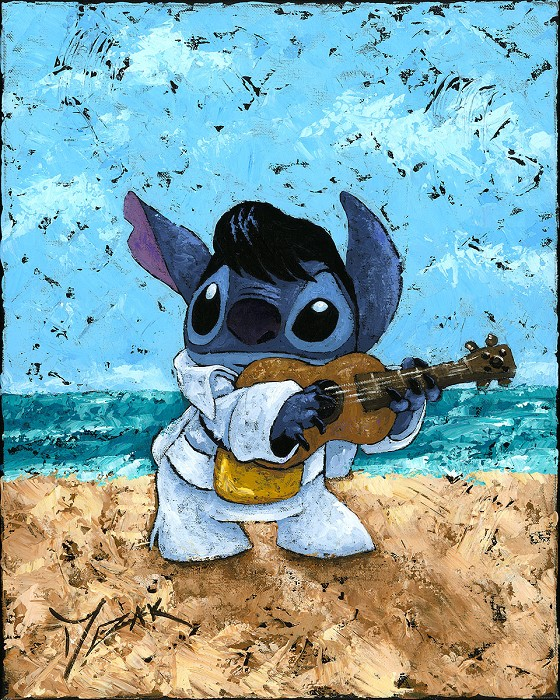 Trevor Mezak Playful Stitch From Lilo And Stitch Original Acrylic on Canvas