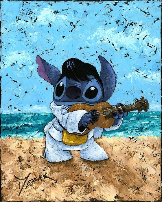 Trevor MezakPlayful Stitch From Lilo And StitchOriginal Acrylic on Canvas