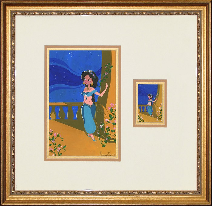 Victoria Ying Princess of Agrabah Suite Framed From Aladdin Original Acylic on Board