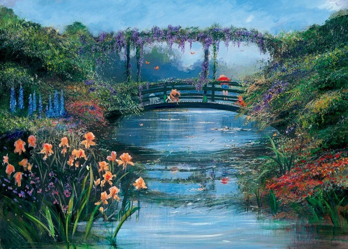 Peter / Harrison Ellenshaw Pooh Sticks - From Disney Winnie the Pooh Giclee On Canvas
