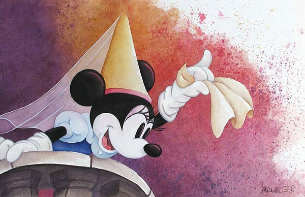 Michelle St Laurent Princess Minnie Original Watercolor on Paper