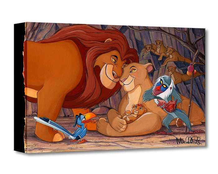 Michelle St Laurent Prince of the Pride From Lion King Gallery Wrapped Giclee On Canvas