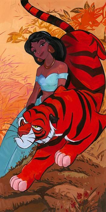 Jim SalvatiJasmine's Fierce ProtectorHand-Embellished Giclee on Canvas